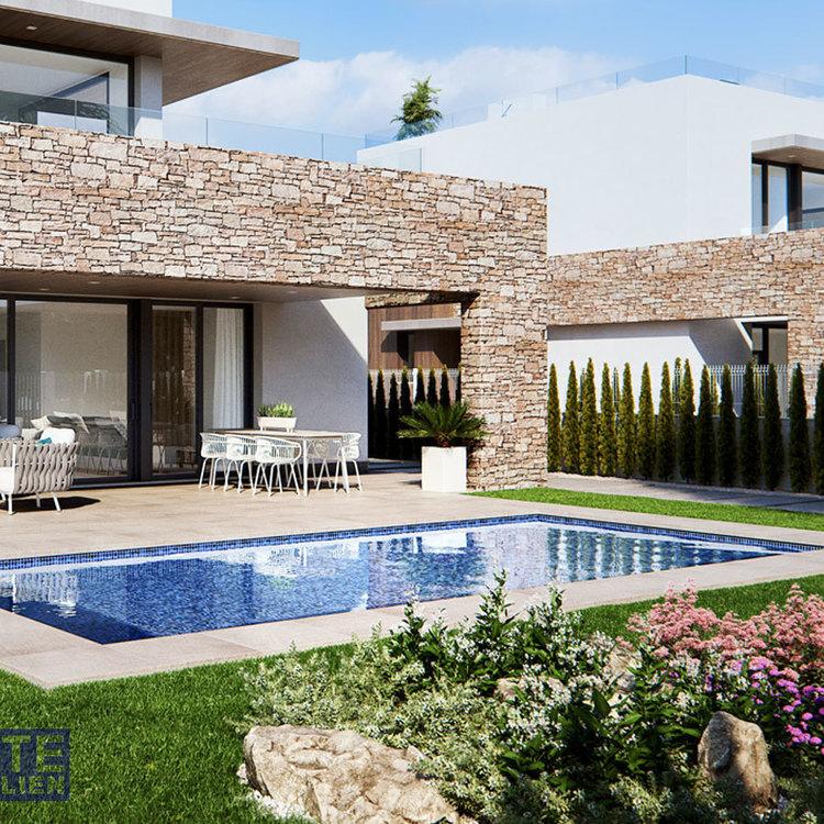 Square villa typ c pool