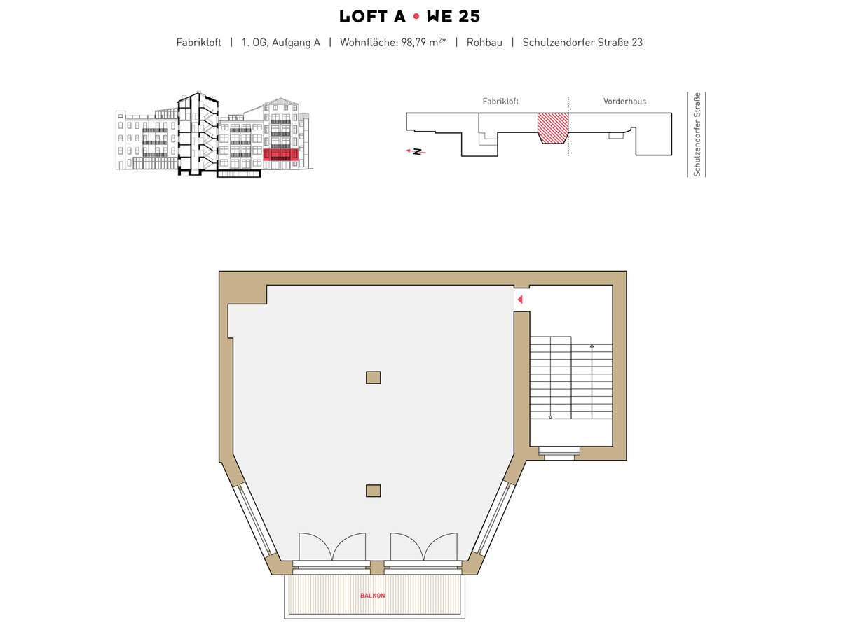 Floor plan LOFT A - WE 25 | Schulzendorfer Straße