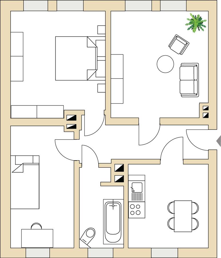Grundriss 2_Straße der Einheit 10 | Straße der Einheit