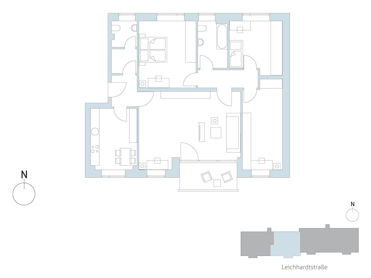 Floor plan unit 63   Leichhardtstraße