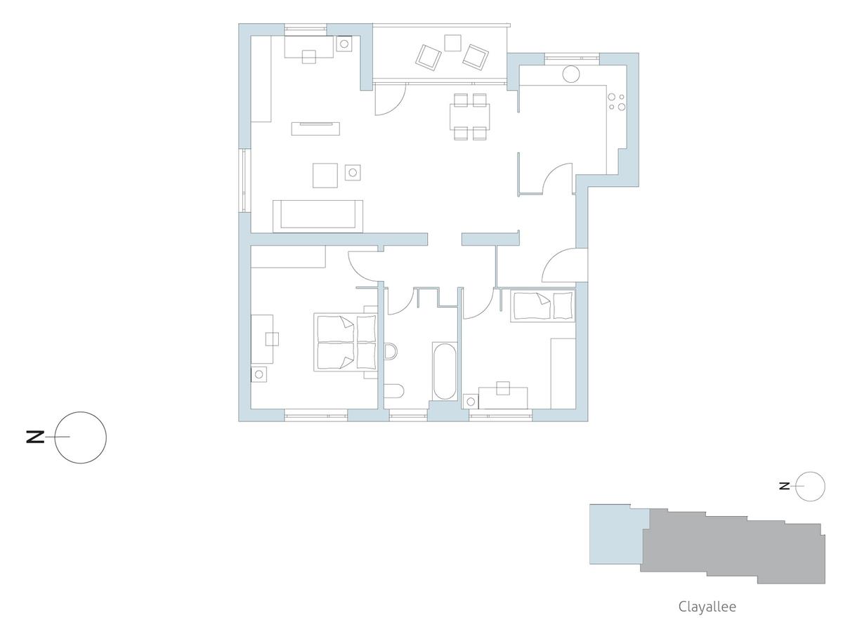 Floor plan unit 07 | Clayallee