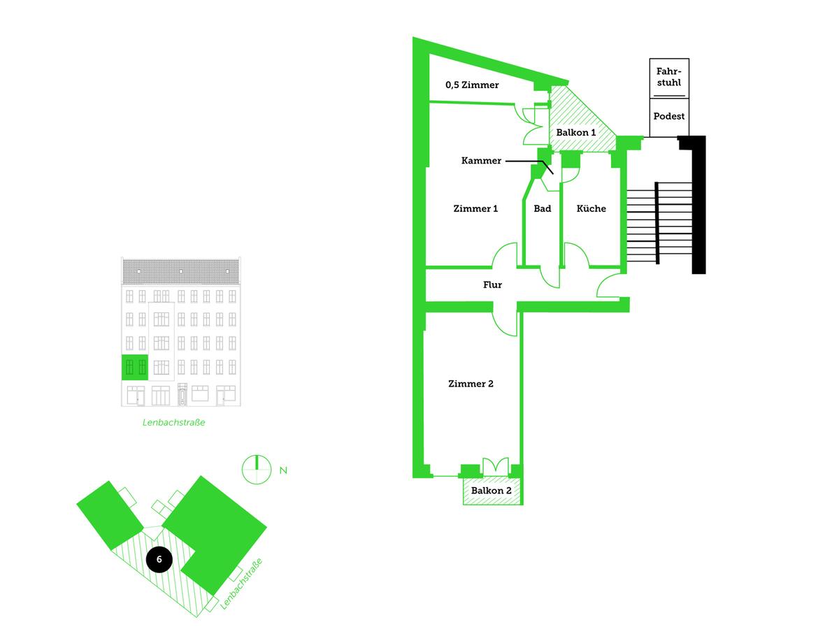 Floor plan unit 6 | Lenbachstraße