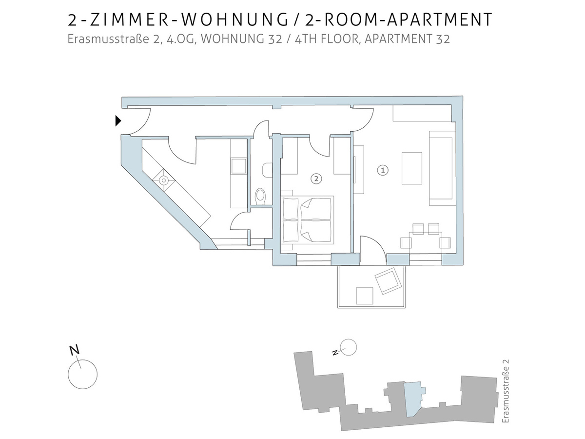 Floorplan unit 32 | Erasmusstraße
