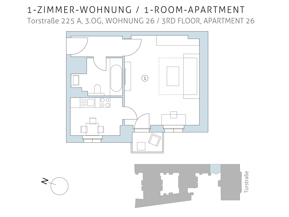 Floor plan unit 26   Torstraße