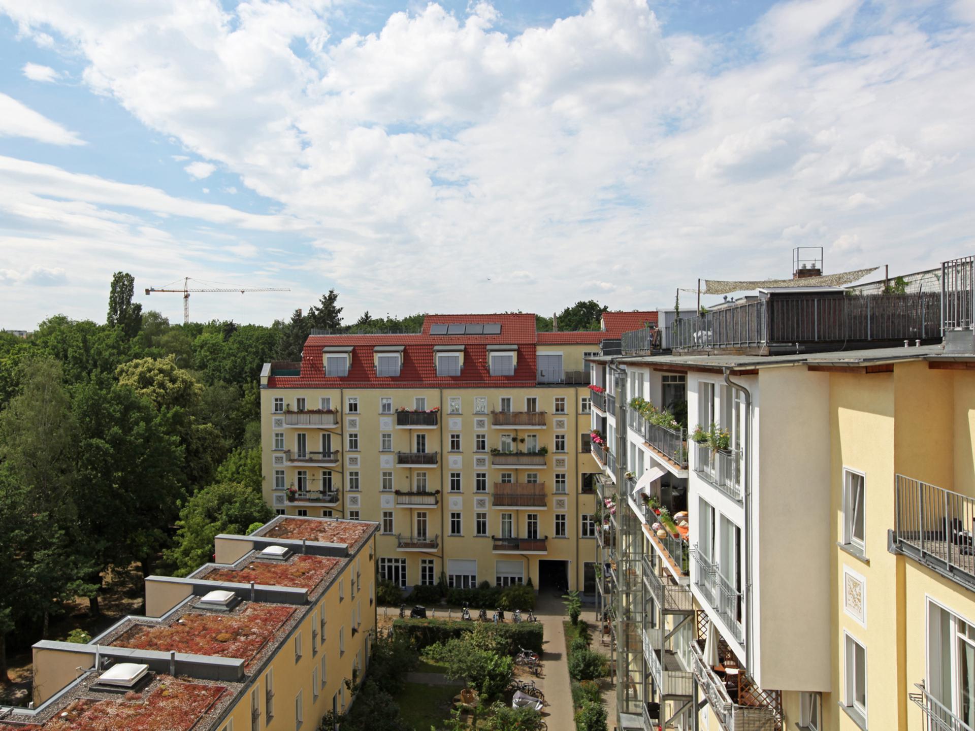 Ausblick Balkon | Greifswalder Straße