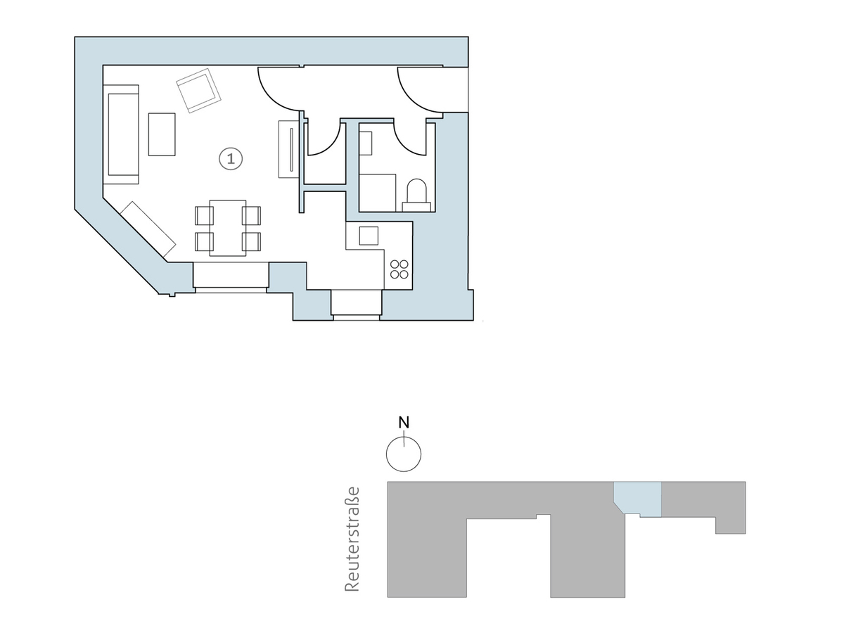 Floor plan unit 32 | Reuterstraße