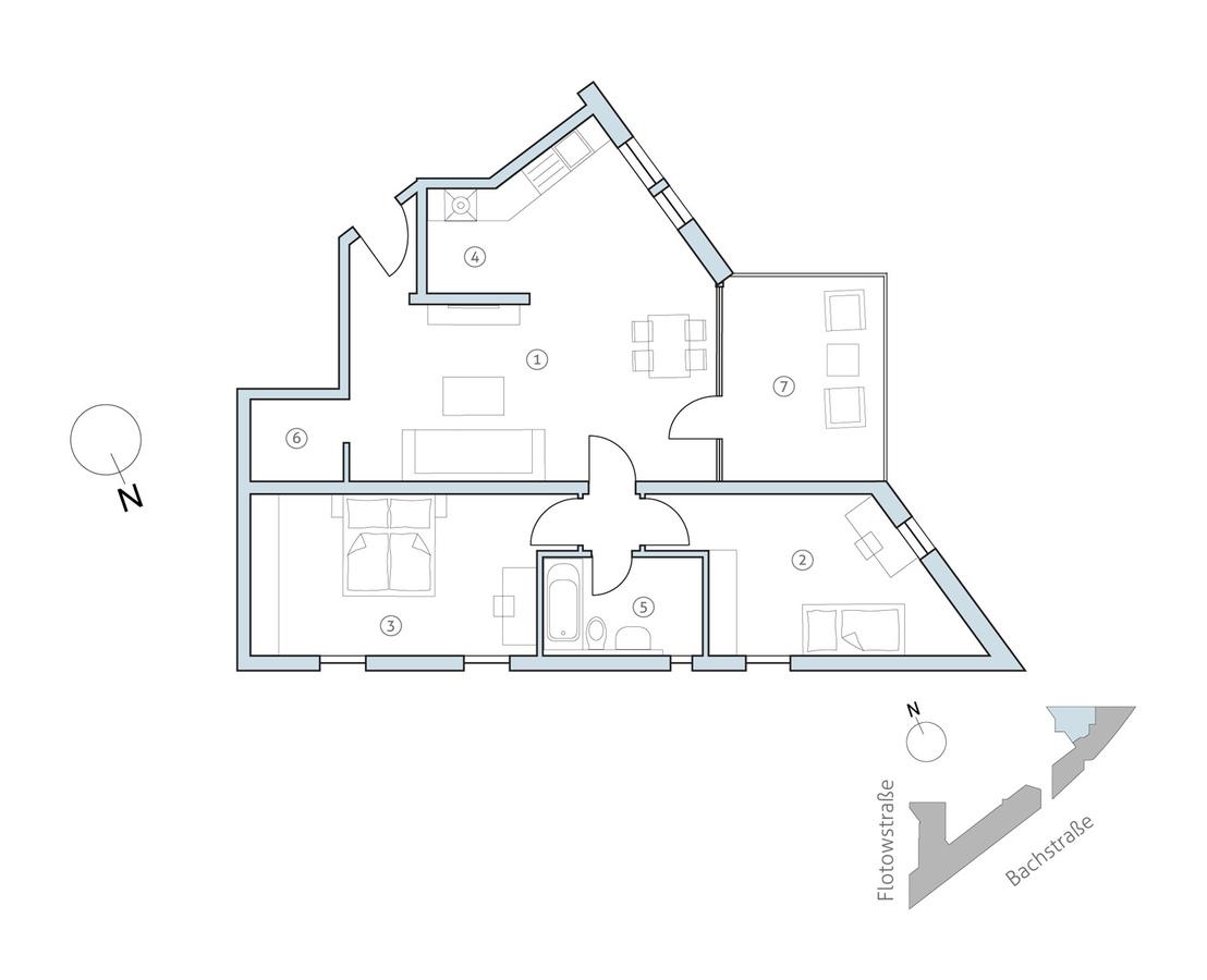 Floor plan unit 35   Bachstraße