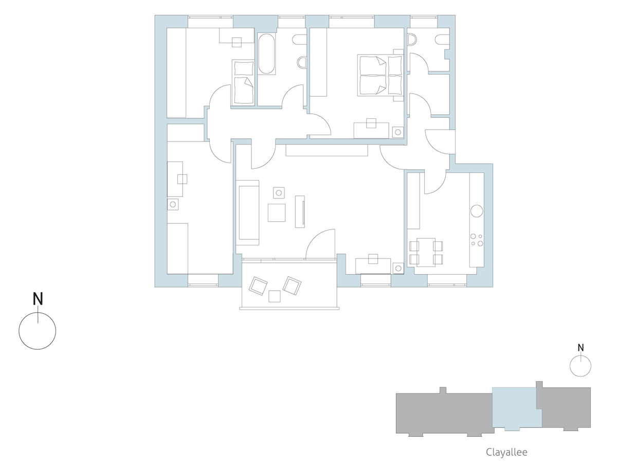 Floor plan unit 42 | Clayallee
