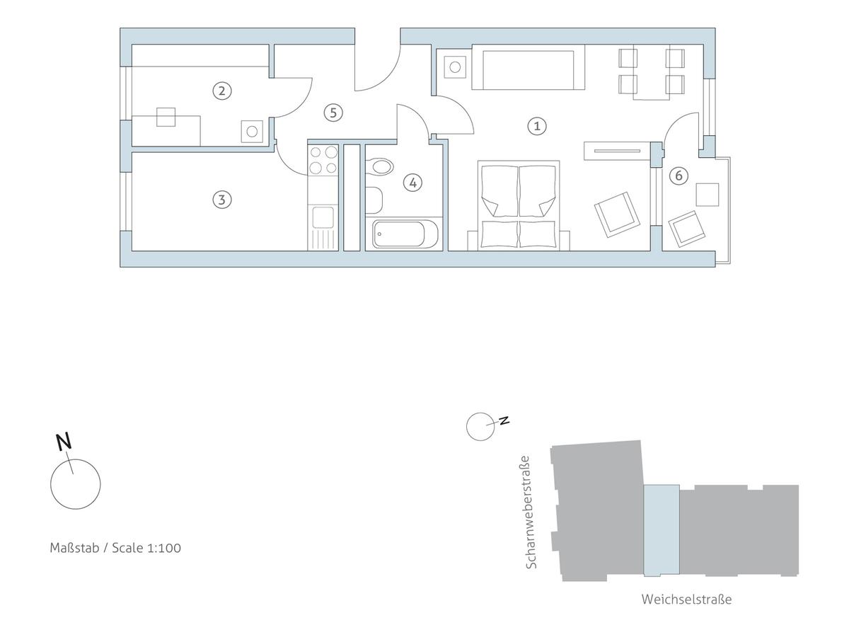 Grundriss WE 34 | Weichselstraße