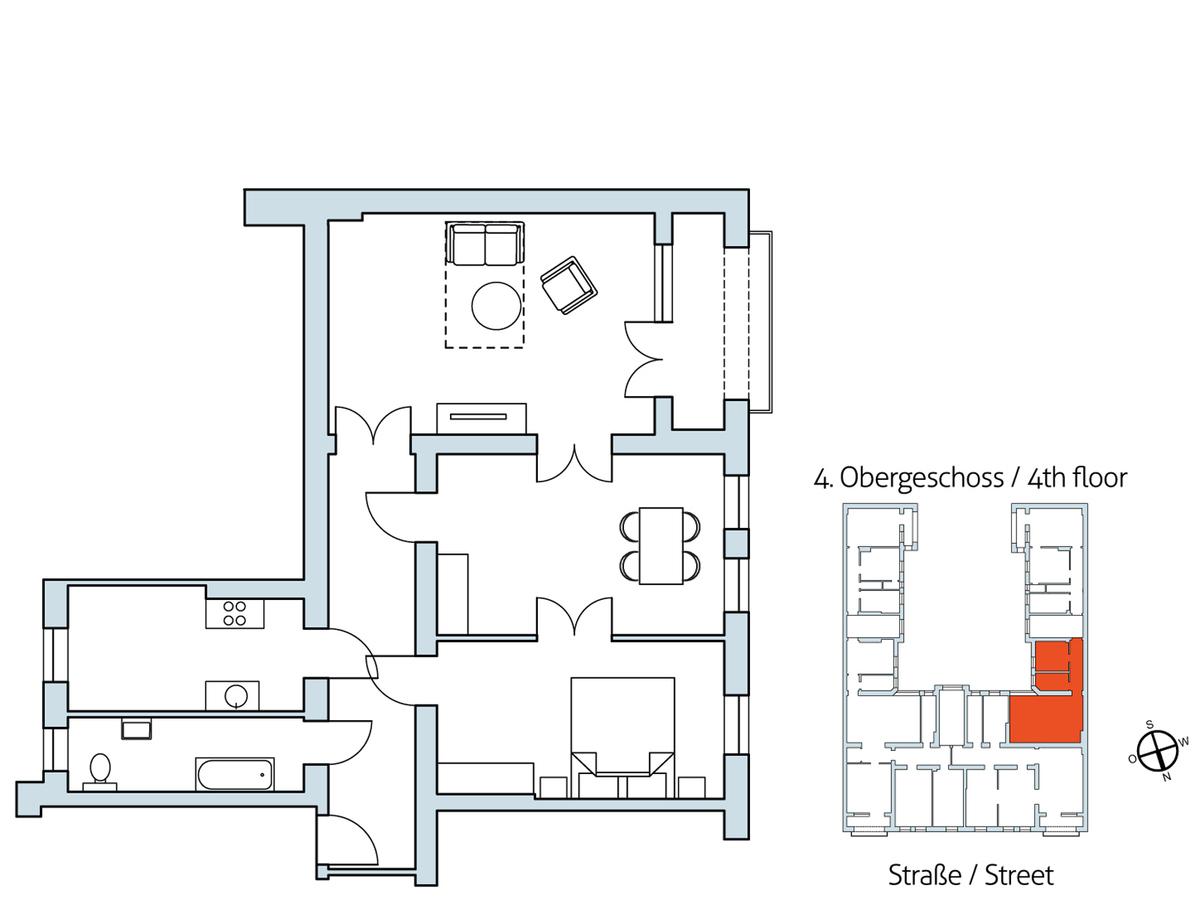 Floor plan Unit 9 | Hasenheide