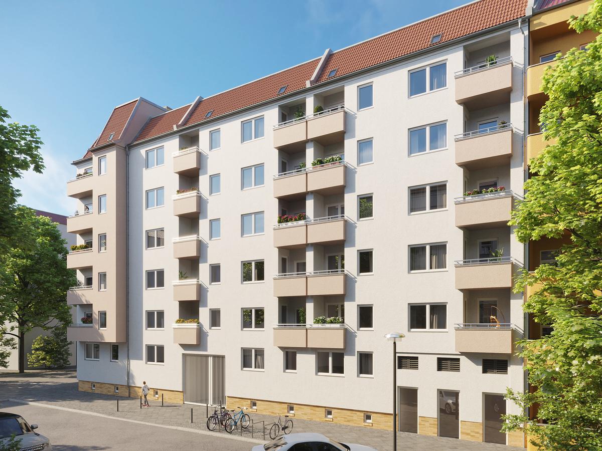 Rendering Scharnweberstraße | Weichselstraße