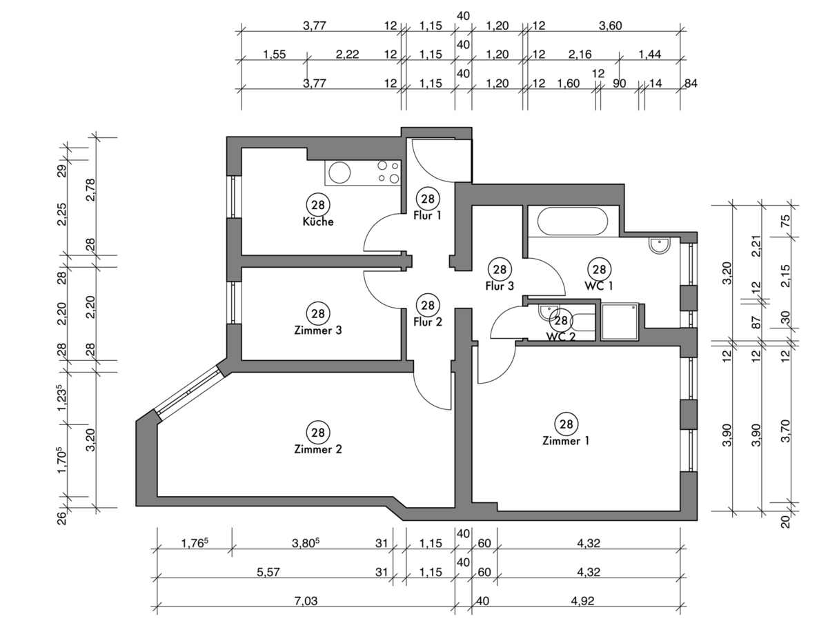 Floor plan unit 32 | Erasmusstraße