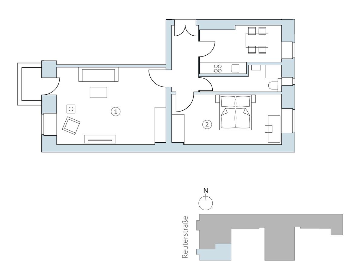 Floor plan unit 01   Reuterstraße