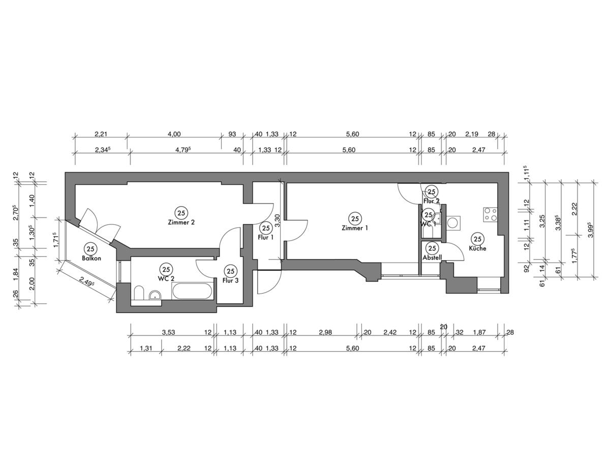 Floor plan unit 25 | Erasmusstraße