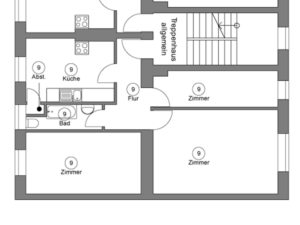 Grundriss WE09 | Hertastraße