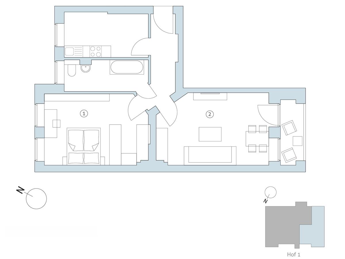 Floor plan no 18   Binzstraße