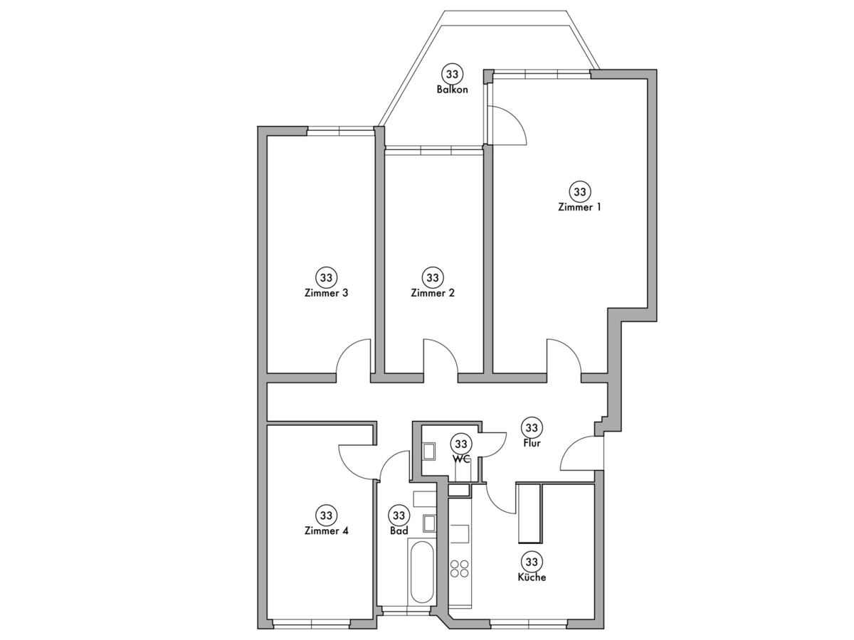 Floor plan unit 33 | Wintersteinstraße