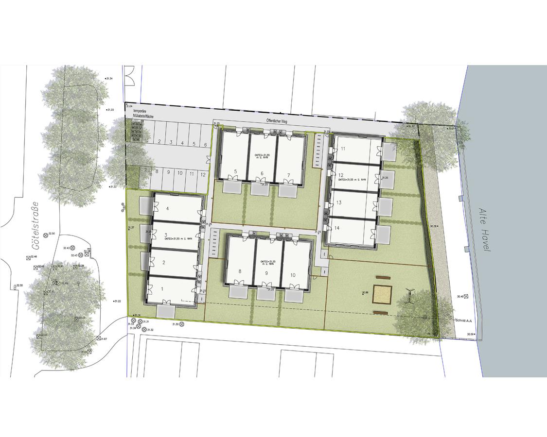 Lageplan Wohnen an der Havel | Götelstraße