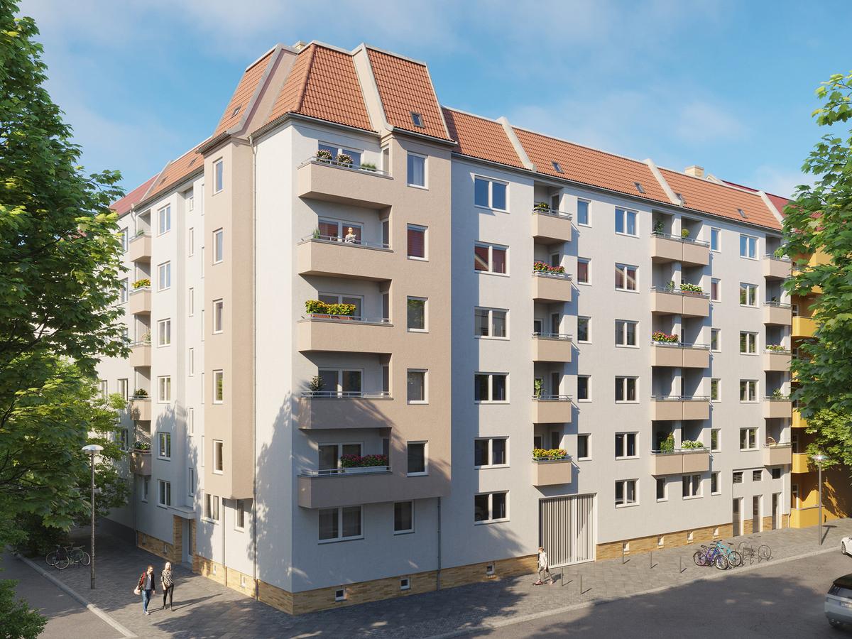 Rendering Hausansicht | Scharnweberstraße
