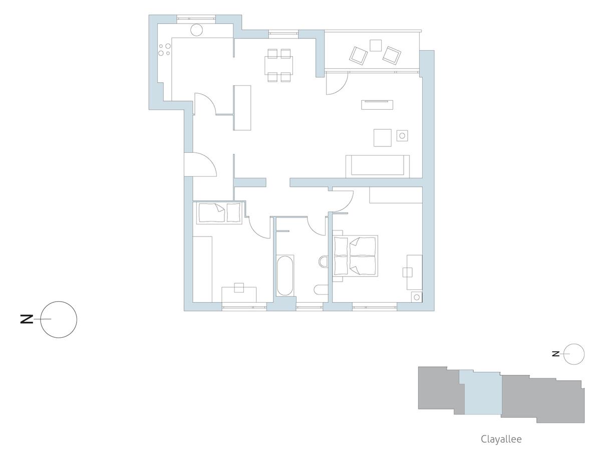 Floor plan unit 06 | Clayallee