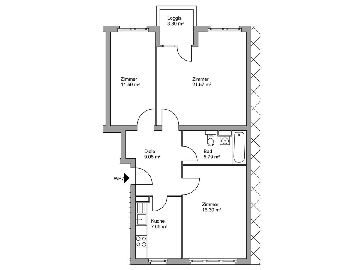 Floor plan unit 07   Kopfstraße