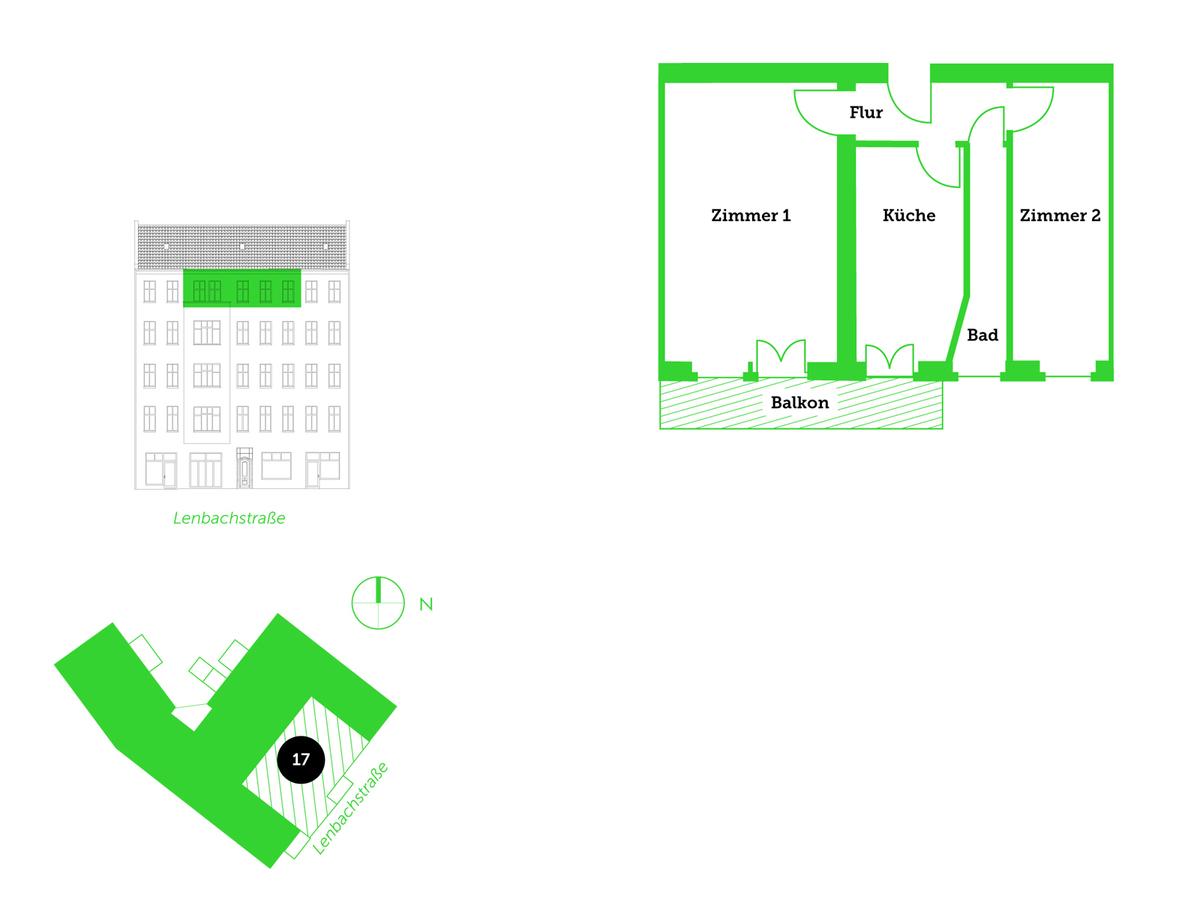 Floor plan unit 17 | Lenbachstraße