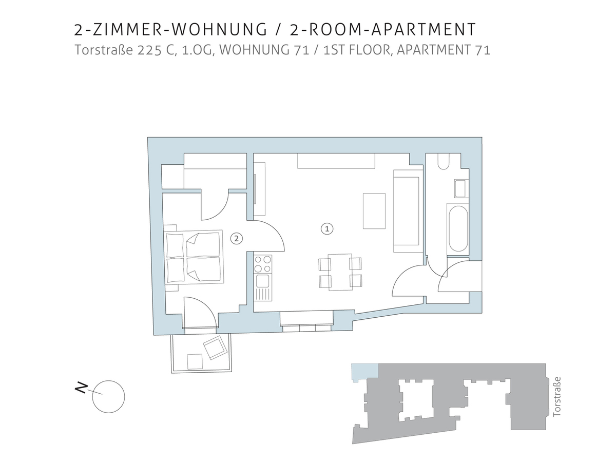 Floor plan unit 71 | Torstraße