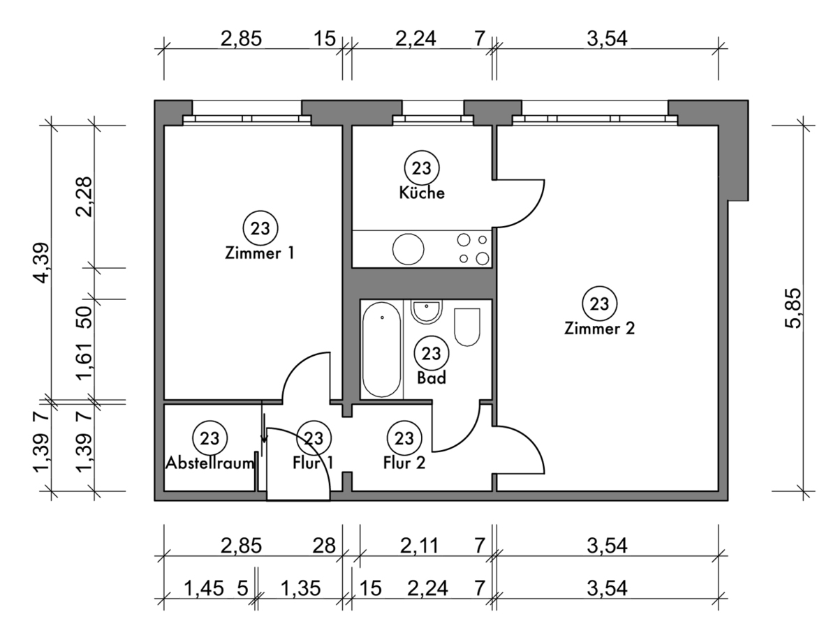 Floor plan unit 23 | Marchwitzastraße
