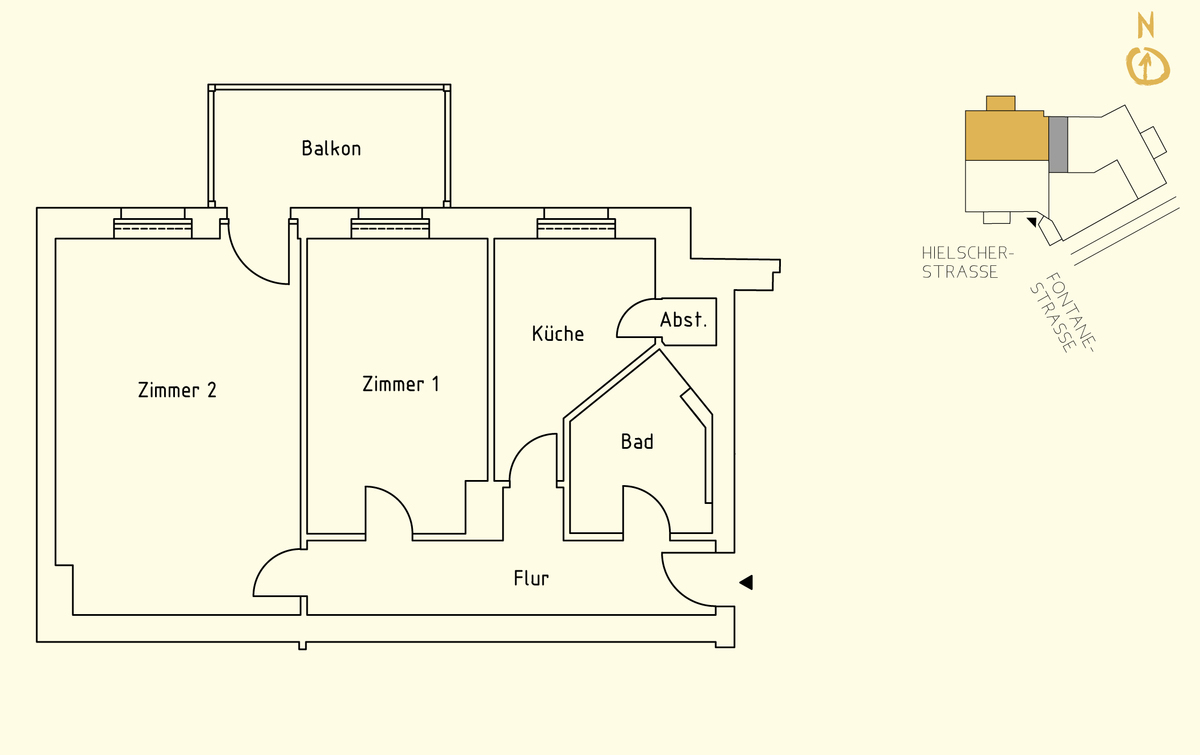 Floor plan unit 10   Hielscher Straße