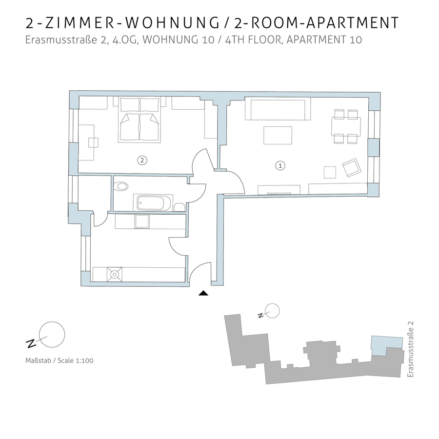 Floorplan unit 10 | Erasmusstraße
