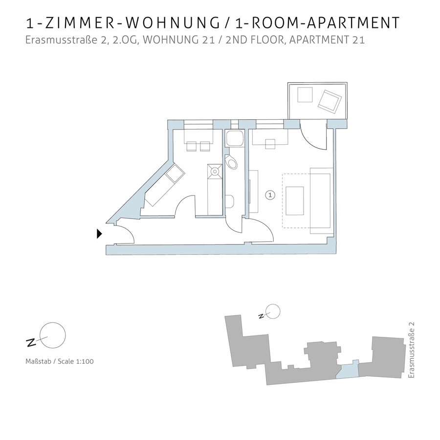 Floorplan unit 21 | Erasmusstraße