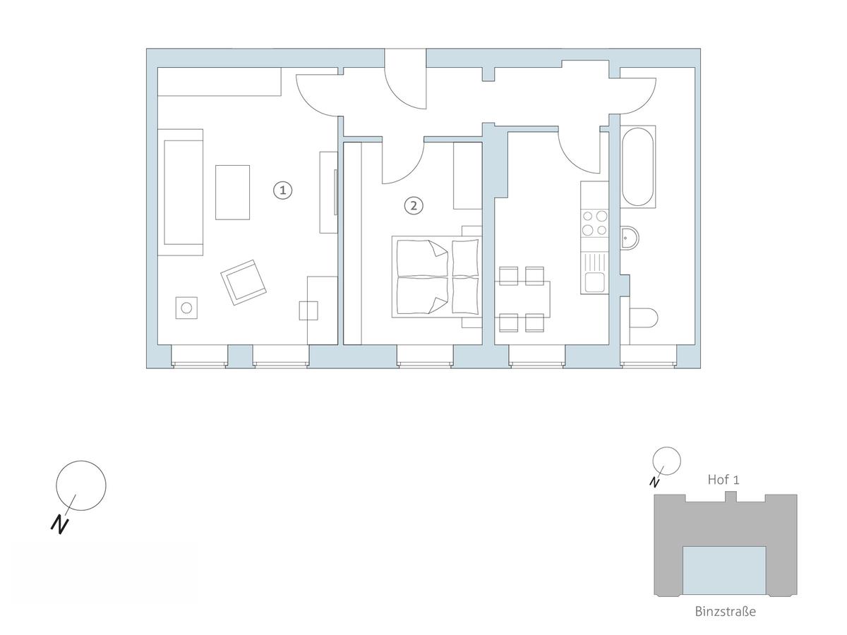 Floor plan unit 07   Binzstraße