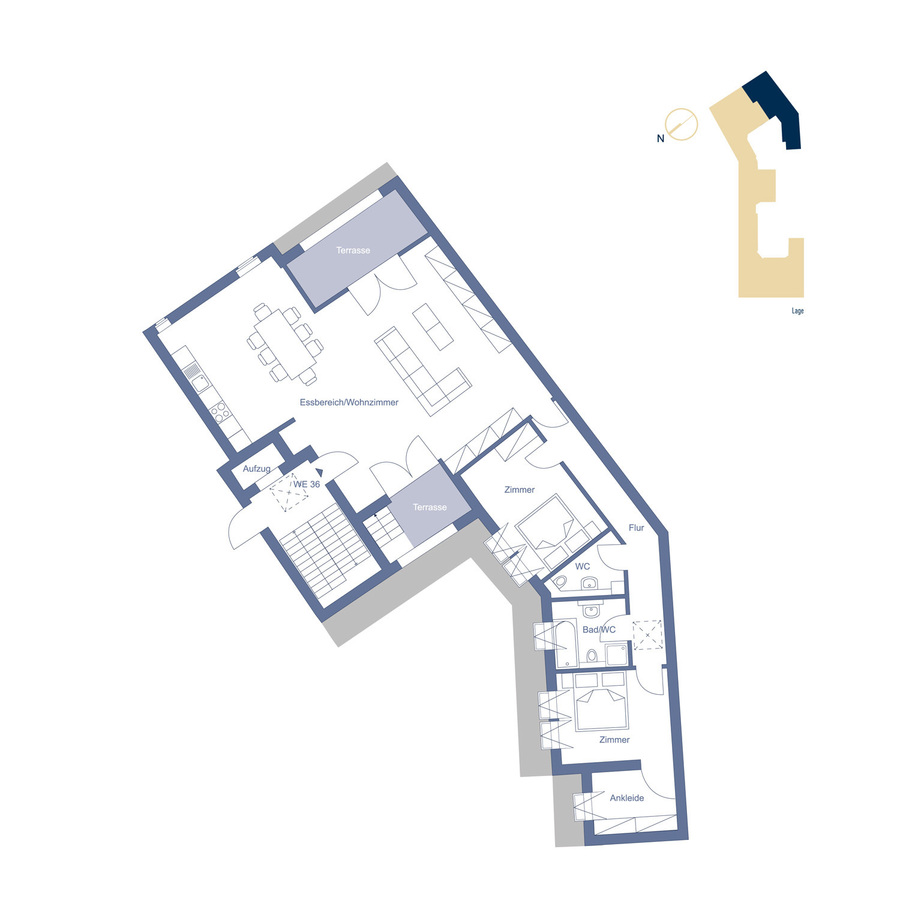 Attic Unit 36 configuration option | Riehlstraße