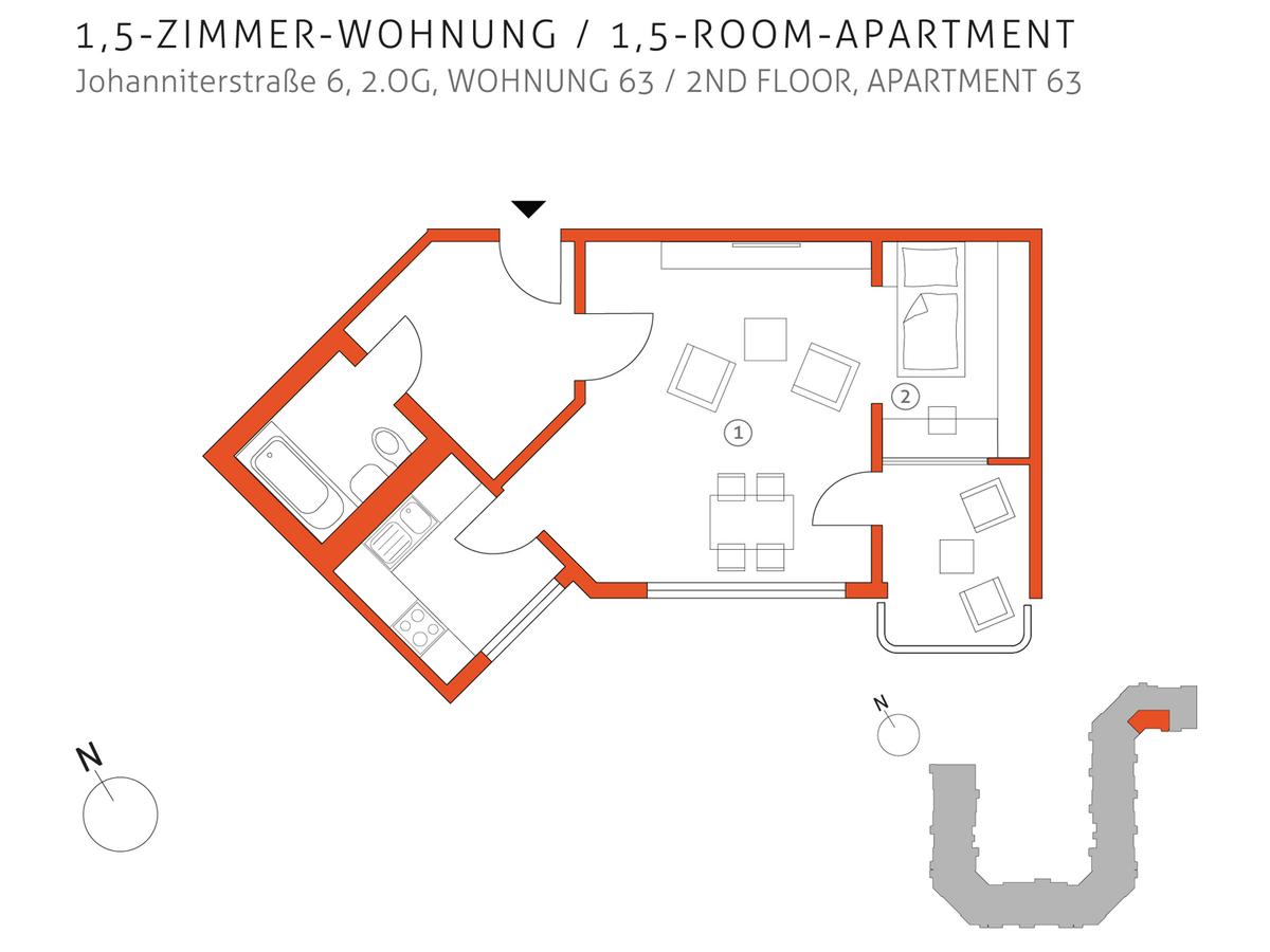 Grundriss 63 | Johanniterstraße