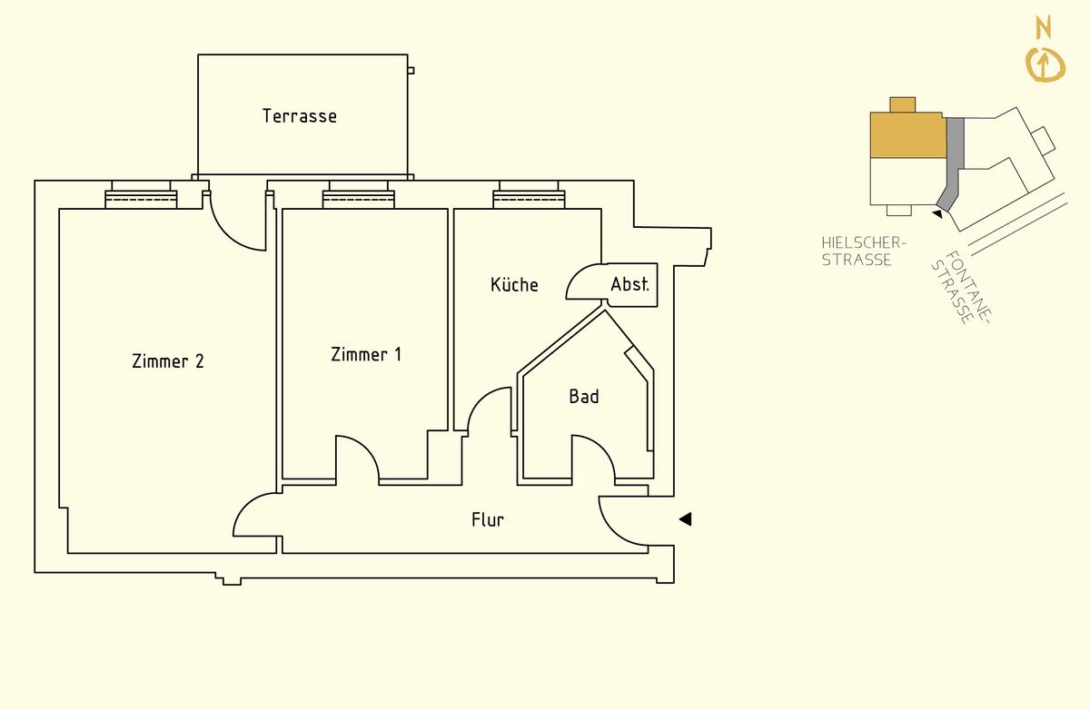 Floor plan unit 01   Hielscher Straße