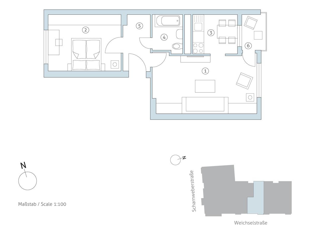 Grundriss WE 31 | Weichselstraße
