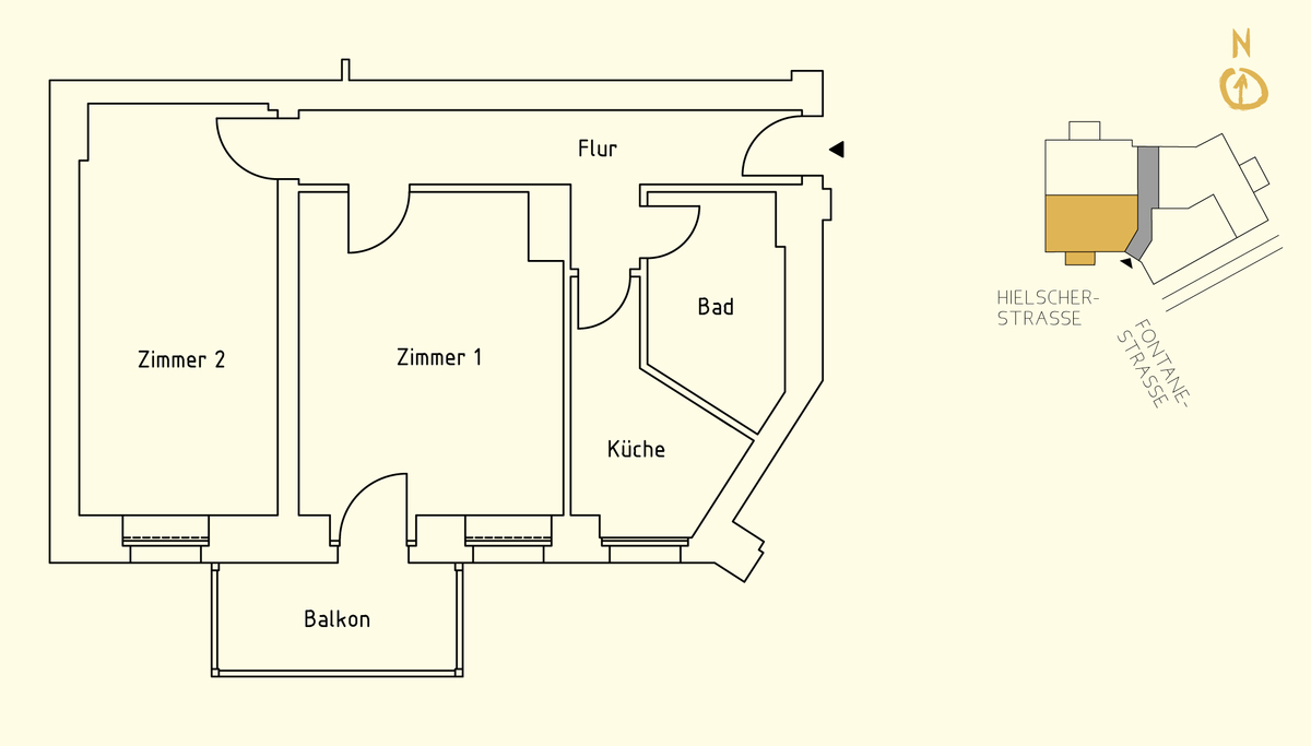 Floor plan unit 01 | Hielscher Straße