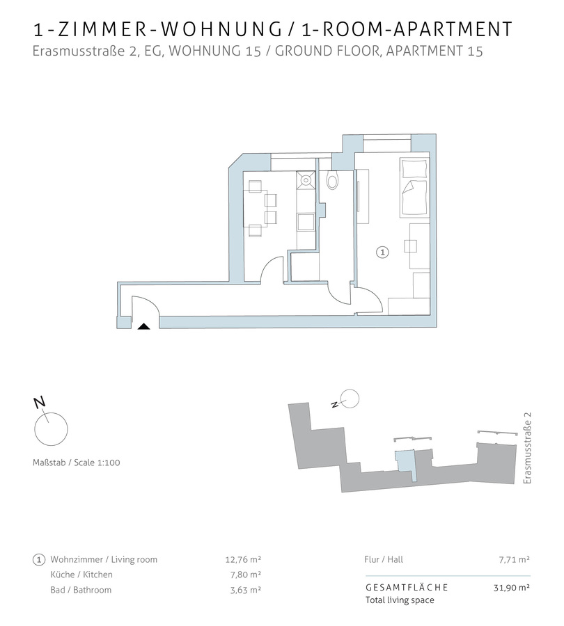 Floorplan unit 15 | Erasmusstraße