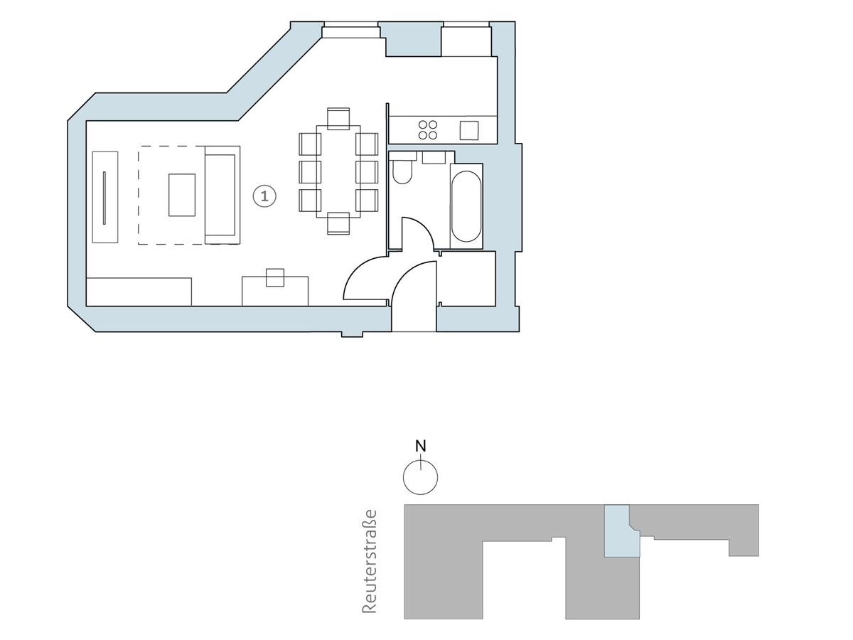 Floor plan unit 14 | Reuterstraße