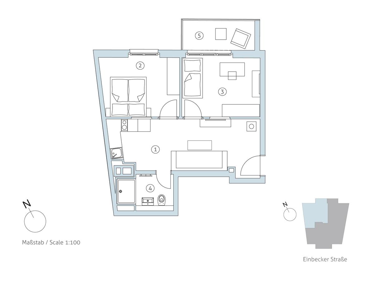 Grundriss WE 19 | Einbecker Straße