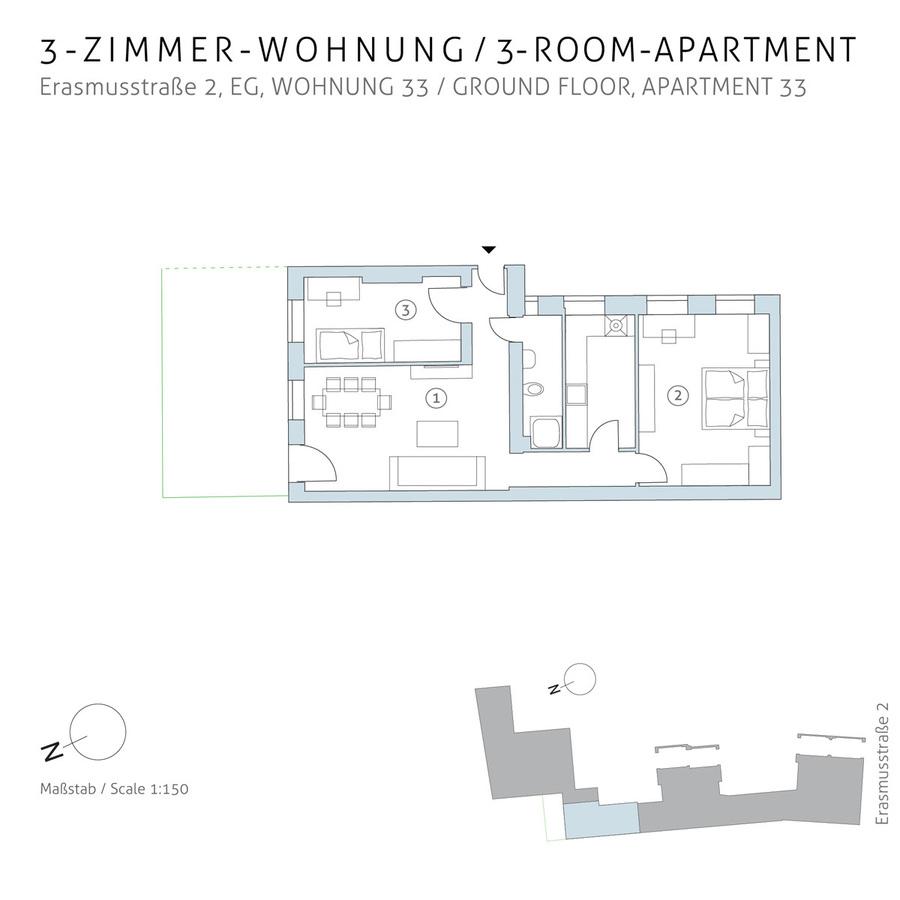 Floorplan unit 33 | Erasmusstraße