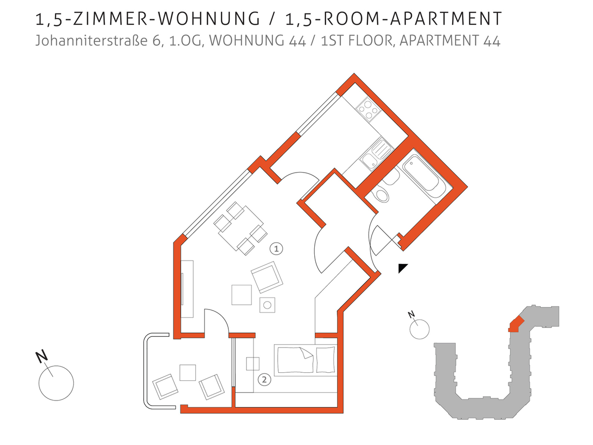 Grundriss 44 | Johanniterstraße