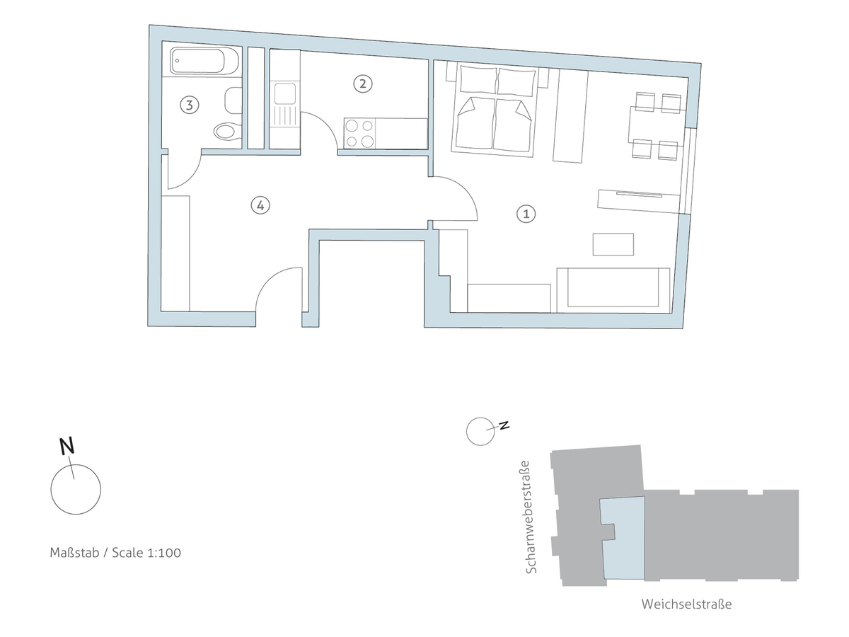 Grundriss WE 17 | Scharnweberstraße