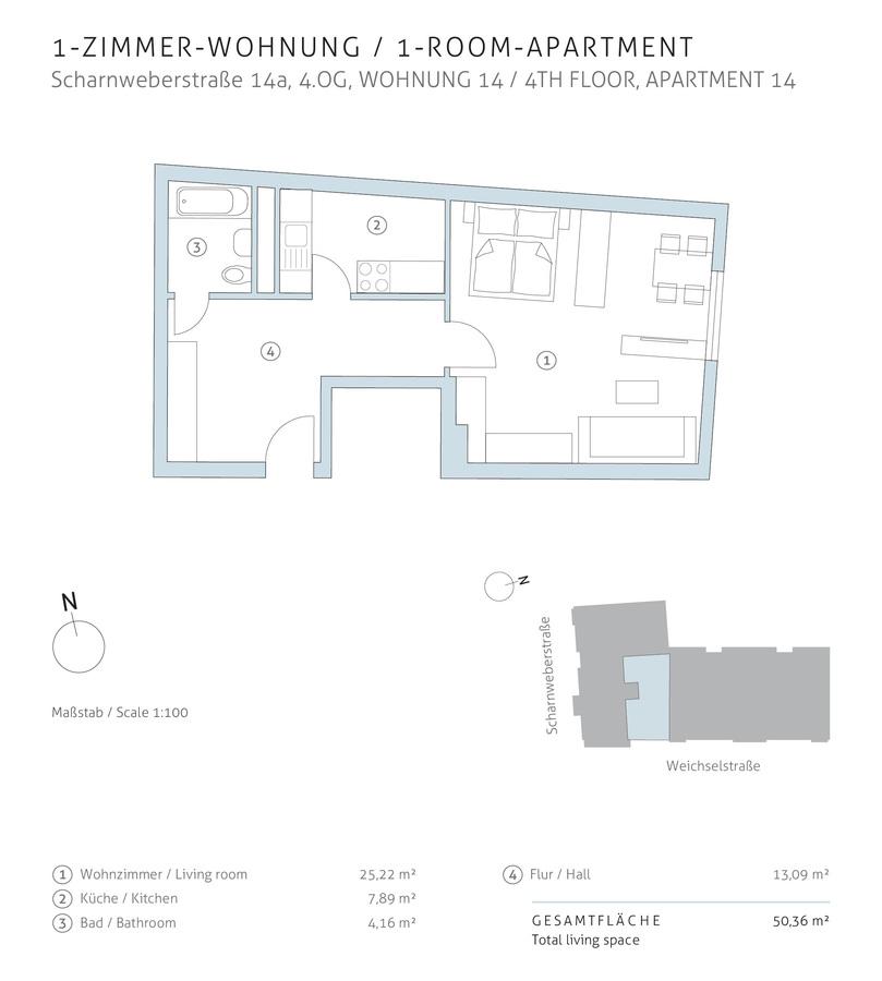 Floor plan unit 14 | Scharnweberstraße