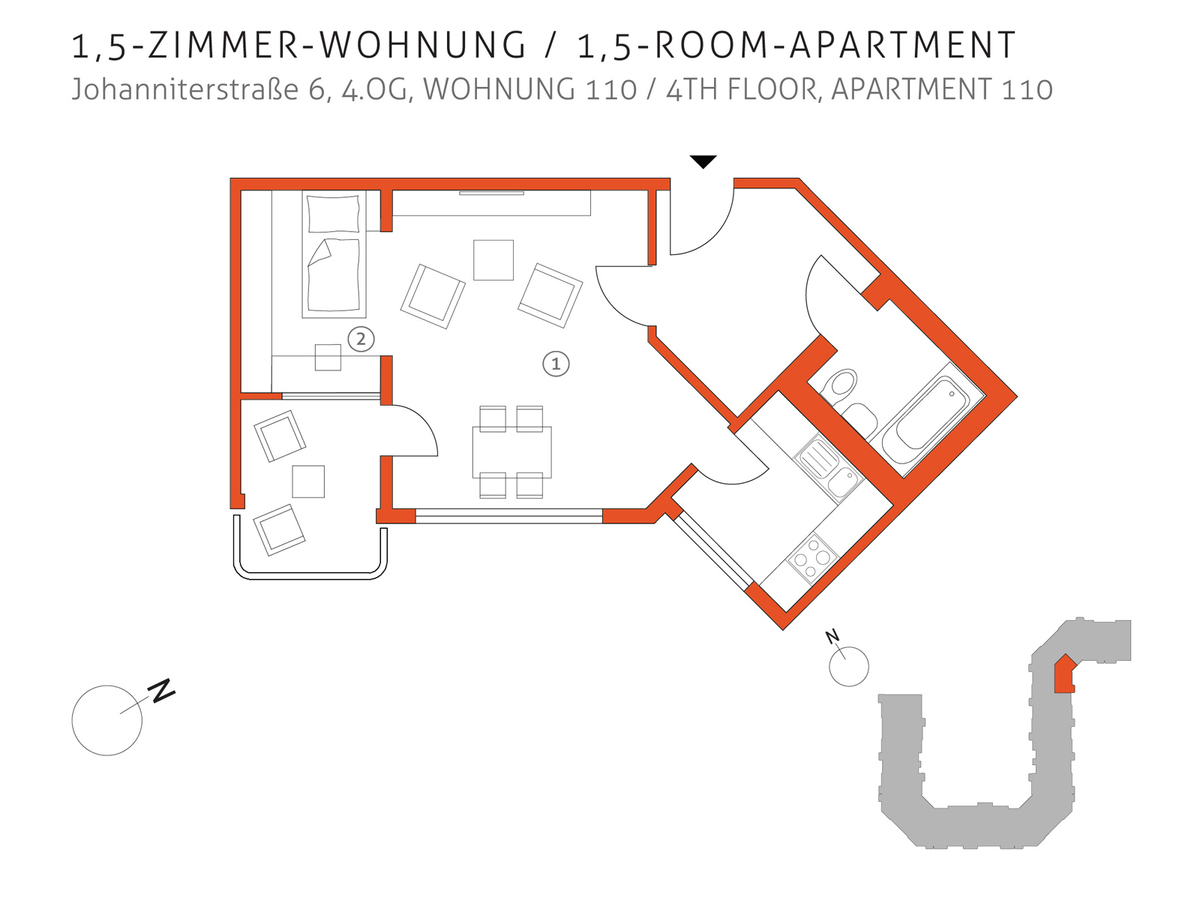 Grundriss 110 | Johanniterstraße