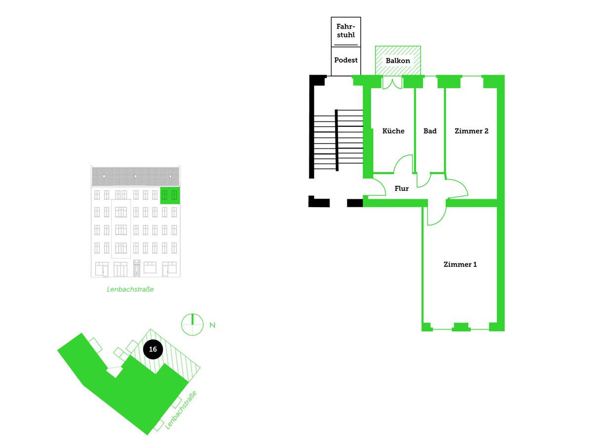 Floor plan unit 16   Lenbachstraße