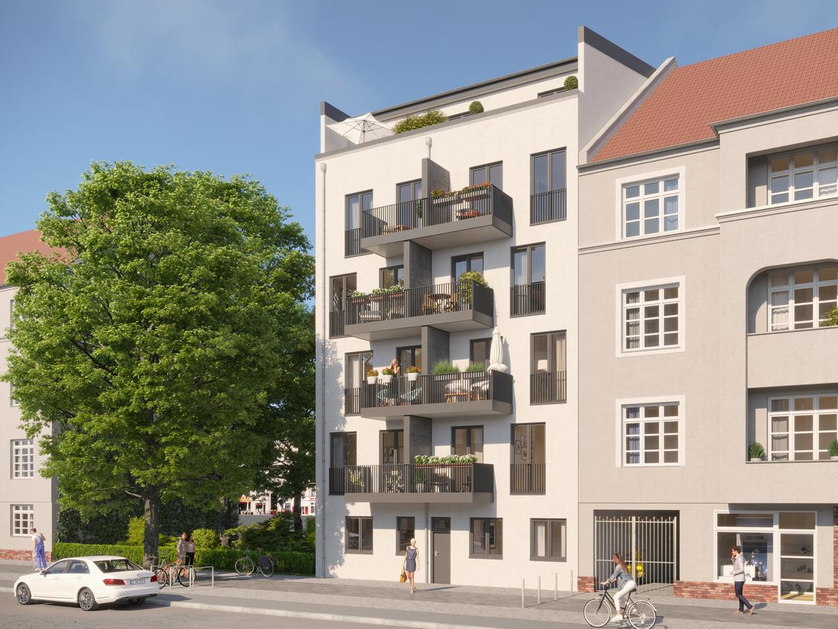 Hausansicht Rendering | Einbecker Straße