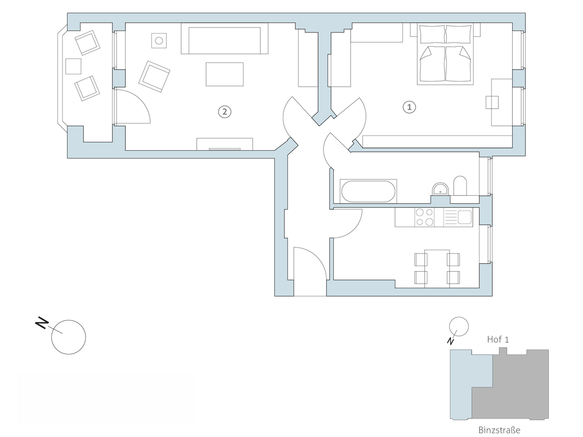 Floor plan unit 06 | Binzstraße