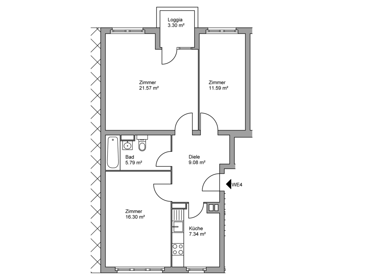 Floor plan unit 04 | Kopfstraße