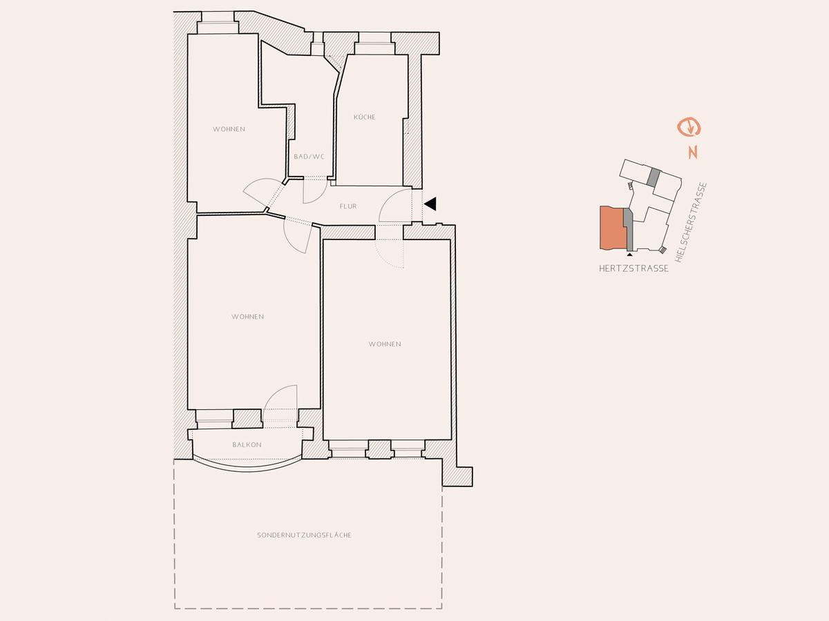 Floor plan unit 2 | Hertzstraße